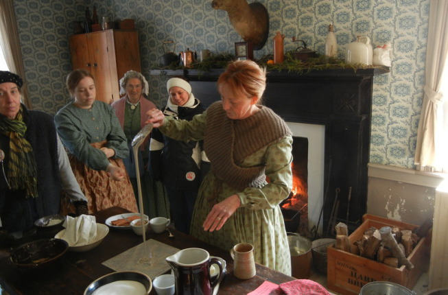 Cooking food served in 1855